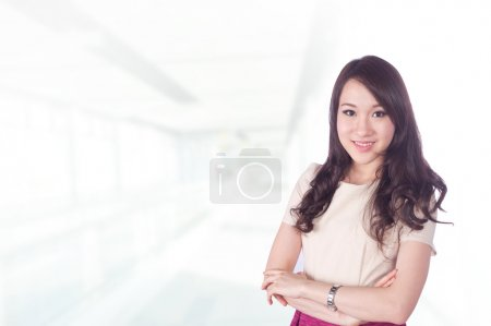 Asian businesswoman in her office