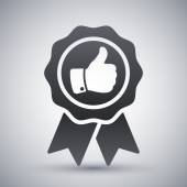 Badge with thumbs up