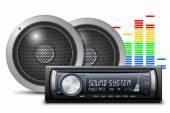 Car audio with speakers