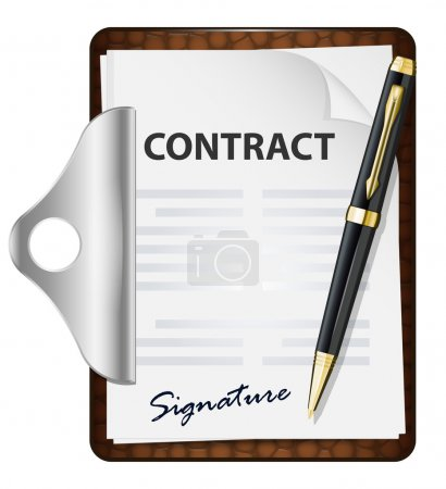 Signing contract concept. Vector icon