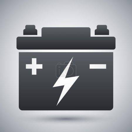 Illustration pour Icône de batterie de voiture. noir et blanc. illustration vectorielle - image libre de droit