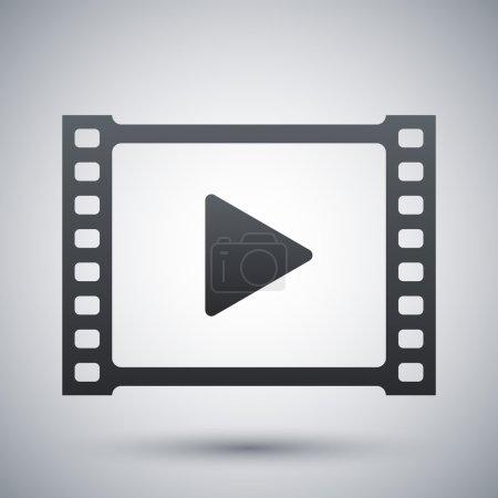 Illustration pour Vidéo, icône de lecture. symbole de film classique. illustration vectorielle - image libre de droit