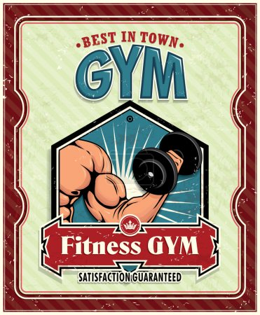 Vintage Fitness Club poster