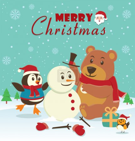 Vintage Christmas poster design...