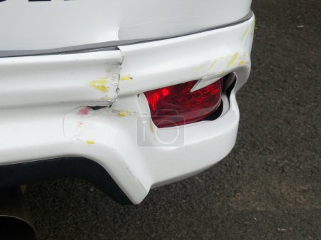 Details of front fender car in an accident