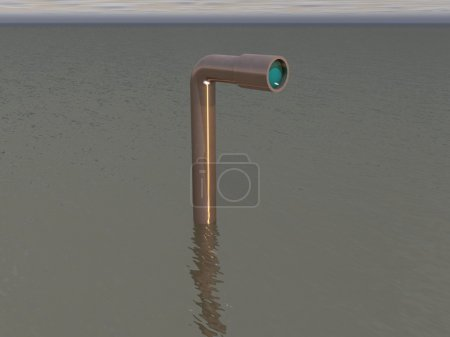 3d rendered periscope