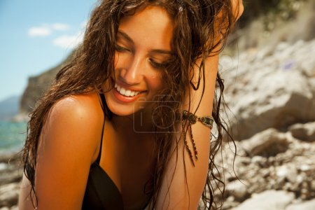 Summer woman portrait on the beach