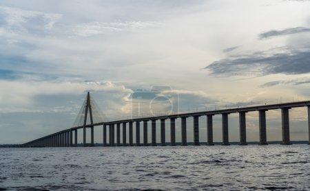 The Manaus Iranduba Bridge at sunset