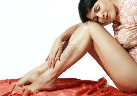 silky female legs