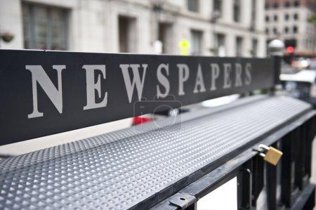 Newspaper Board in City Hall