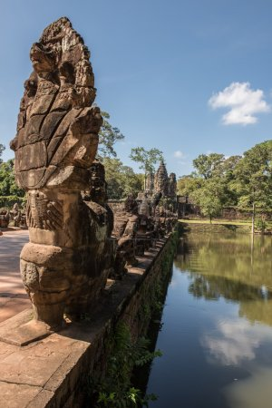 View of the temple architectures in Angkor Wata