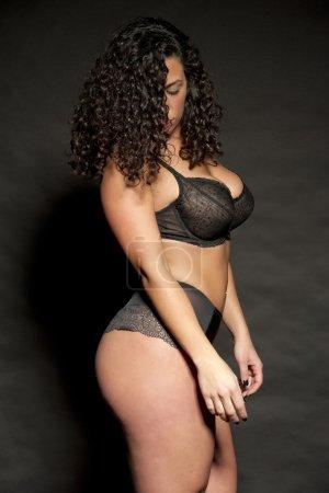 Sexy Brunette in Lingerie