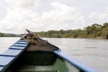 Photo pour Vue sur l'Amazone dans la province de Tambopata par temps nuageux - image libre de droit