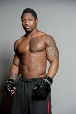 African American MMA Male Boxer