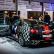 Постер, плакат: MOSCOW RUSSIA AUG 2012: NISSAN GT R R35 SAFETY CAR presented as world premiere at the 16th MIAS Moscow International Automobile Salon on August 30 2012 in Moscow Russia