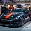 Постер, плакат: MOSCOW RUSSIA AUG 2012: NISSAN GT R R35 SAFETY CAR presented