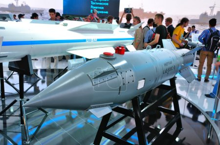 MOSCOW, RUSSIA - AUG 2015: guided bomb KAB-500S presented at the