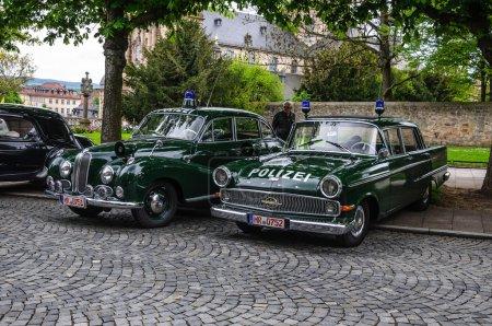 FULDA, GERMANY - MAI 2013: BMW 501 502 and Opel Kapitan police l