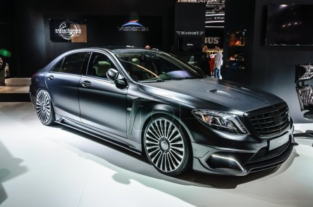 FRANKFURT - SEPT 2015: MANSORY BLACK EDITION Mercedes S Class AM
