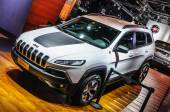 FRANKFURT - SEPT 2015: Jeep Cherokee presented at IAA Internatio