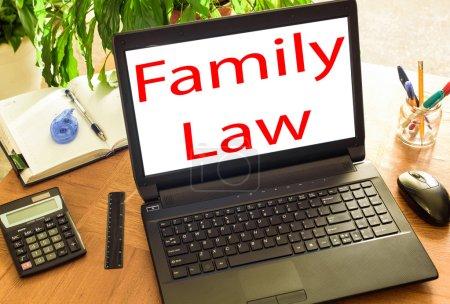 Photo pour Droit de la famille. Bureau conceptuel - image libre de droit