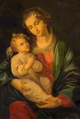 TRNAVA, SLOVAKIA - OCTOBER 14, 2014: The paint of Madonna by unknown painter in the sacristy of St. Nicholas church.