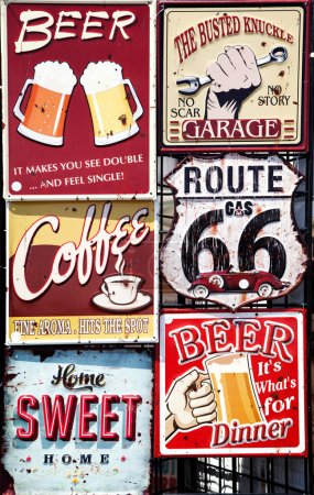 Photo for Vintage signboards - Royalty Free Image