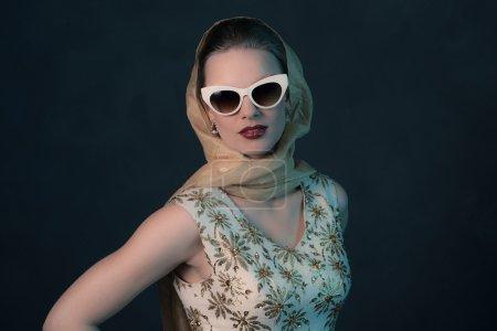 Elegant  vintage 50s fashion woman