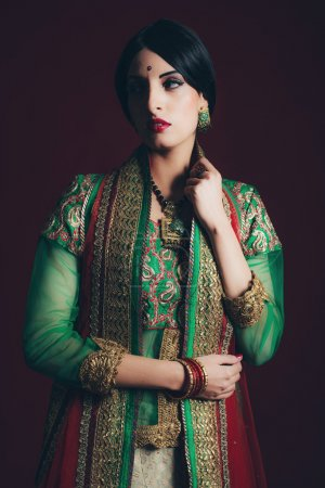 Traditional vintage Bollywood fashion woman