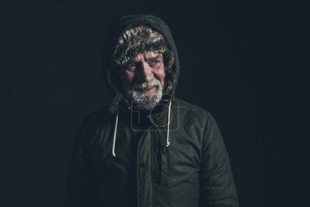 Senior man with gray beard