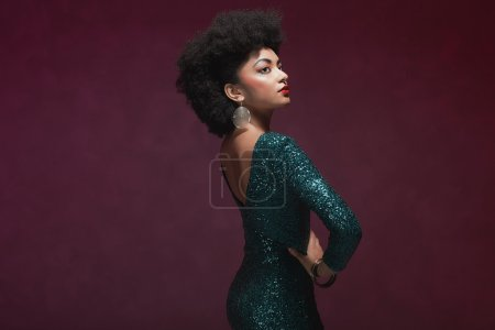 Rear View of African American woman