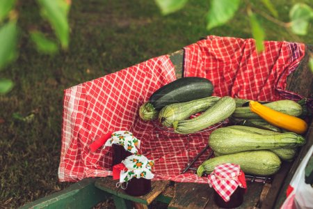 Local Zucchinis and Jam for Sale