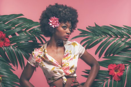 Sensual Afro American Pin-up