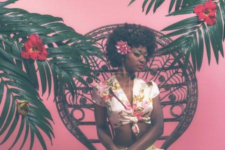 Sensual Afro Pin-up Girl