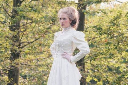 Retro victorian fashion woman