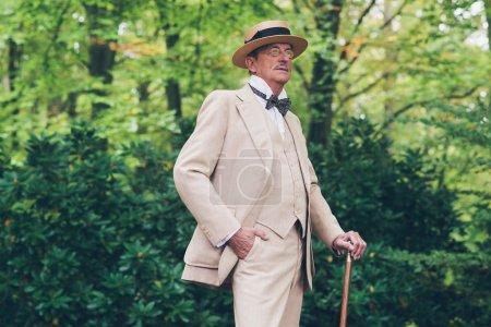Wealthy senior man in suit