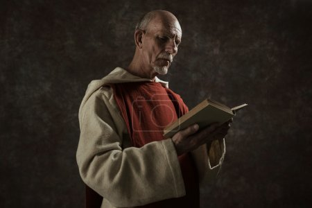 Official portrait of monastic reading book.