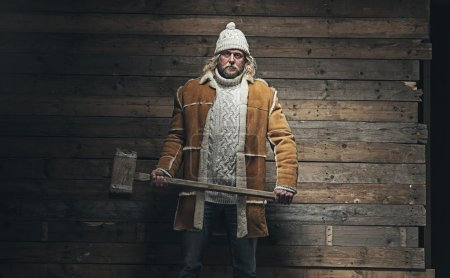 Lumberjack Winter Fashion Man