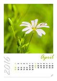 Kalendář fotografií s krásnou krajinou minimalistické 2016. Duben
