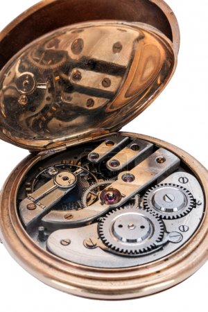 Clockwork of old pocket watches