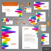 Corporate identity Editable corporate identity template Stationery template design