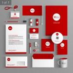 Corporate identity. Editable corporate identity te...
