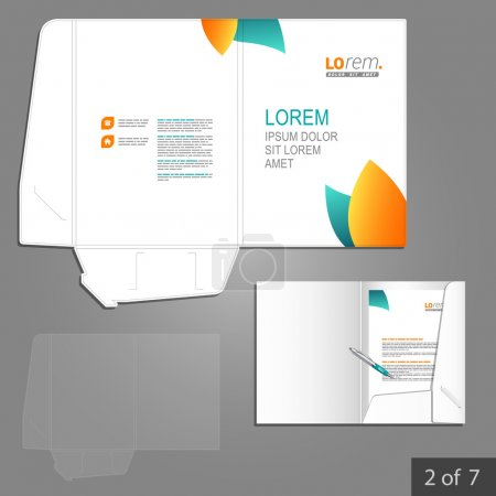 Corporate identity. Editable corporate identity template. Folder template design