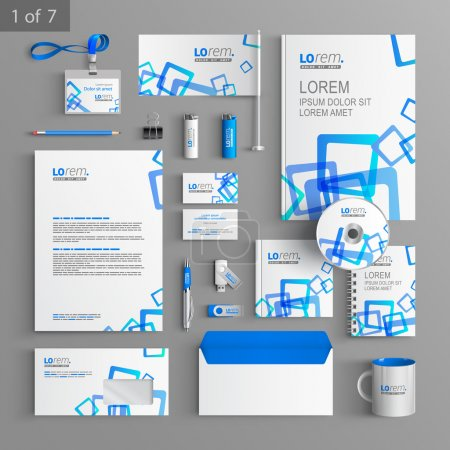 Corporate identity. Editable corporate identity template. Stationery template design