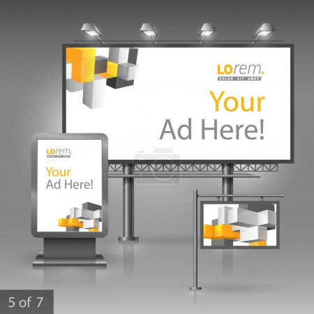 Corporate identity. Editable corporate identity template. Outdoor advertising design