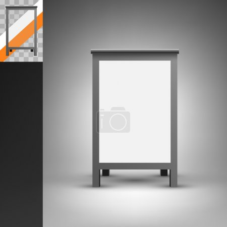 Foldable advertising board