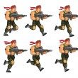 Vector Illustration of 2D Commando Game Animation ...