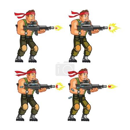 Commando Game Sprite