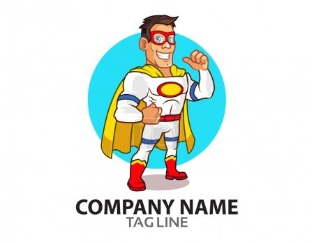 White Superhero Logo