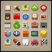 Multimedia Technology icons set